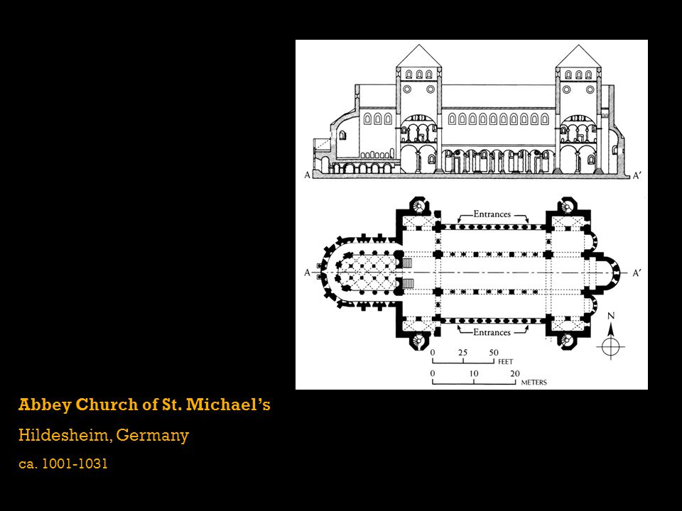 Abbey Church of St. Michaels Hildesheim, Germany ca. 1001-1031