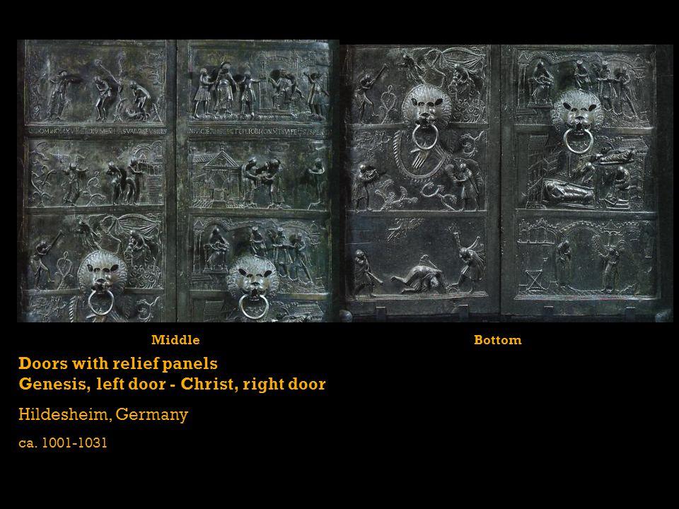 Doors with relief panels Genesis, left door - Christ, right door Hildesheim, Germany ca. 1001-1031 MiddleBottom