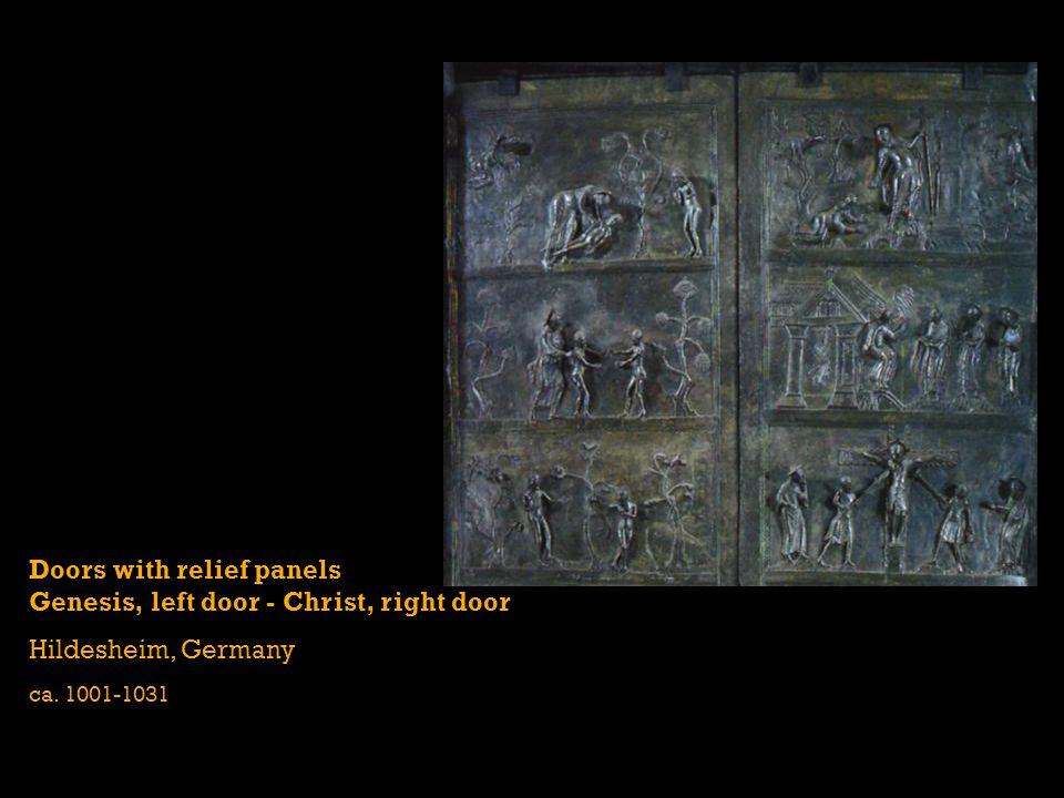 Doors with relief panels Genesis, left door - Christ, right door Hildesheim, Germany ca. 1001-1031