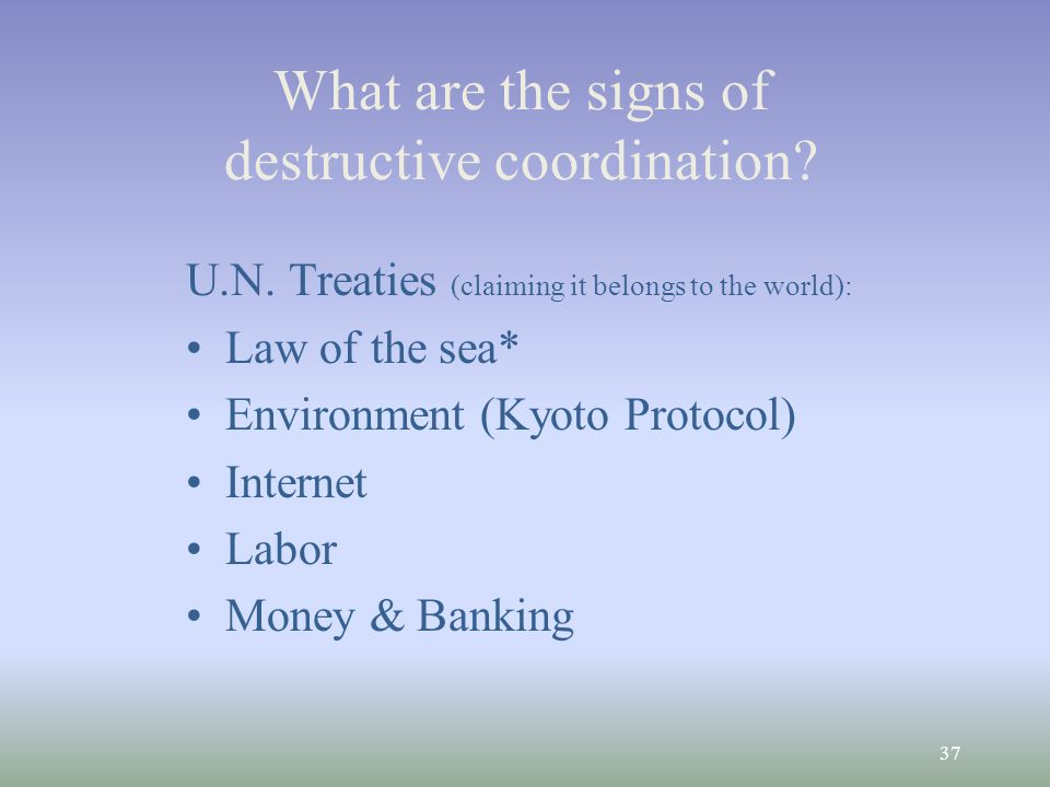 37 What are the signs of destructive coordination.