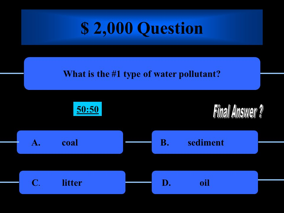 $ 1,000 Question The three Rs of conserving resources are… Reward, reuse and recycle Reduce, reuse, and recycle A.B.