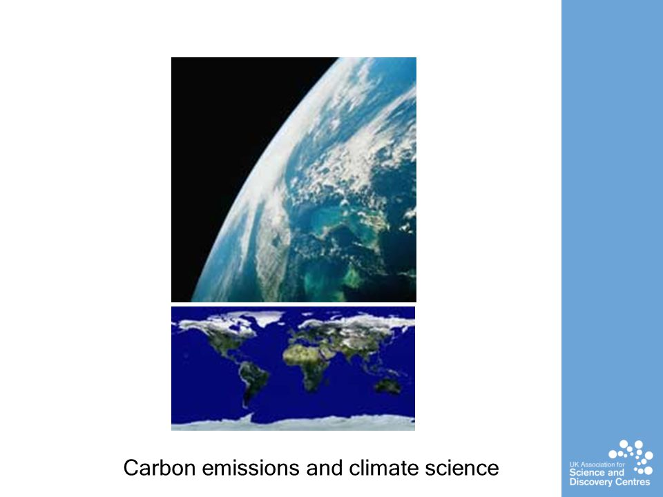 Carbon emissions and climate science