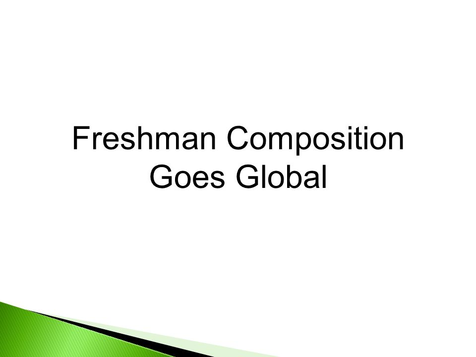 Freshman Composition Goes Global