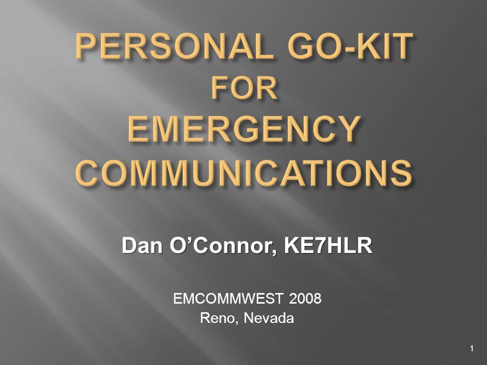 Dan OConnor, KE7HLR EMCOMMWEST 2008 Reno, Nevada 1