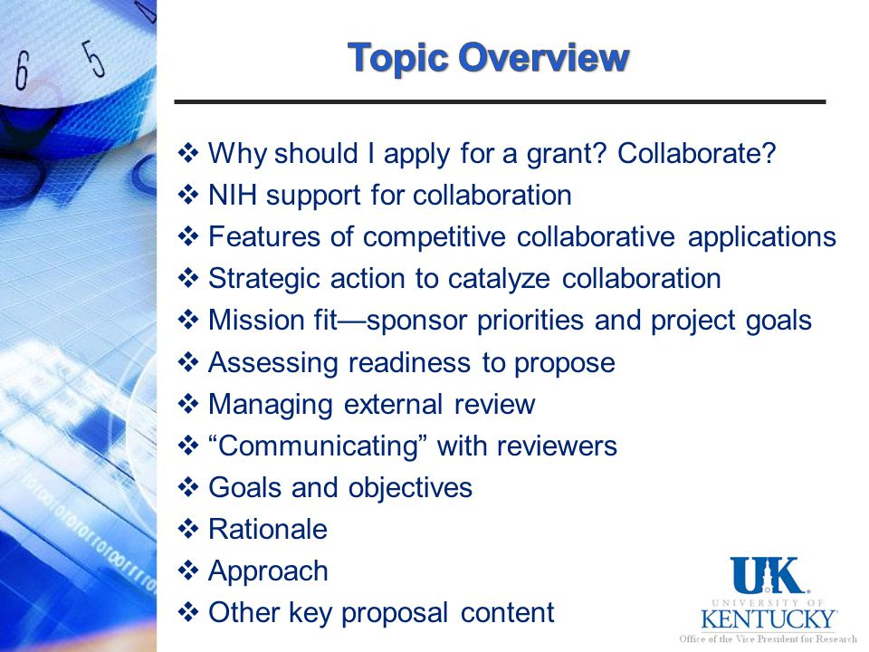 Why should I apply for a grant. Collaborate.