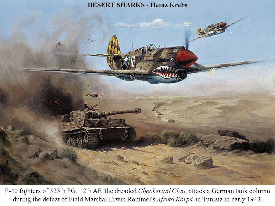 FW190 STURMGRUPPE FORMATION (detail) - John Wallin Liberto Oberstleutnant Walther Dahl in his Blue 13 leads the FW190s from JG300 Wild Boar .