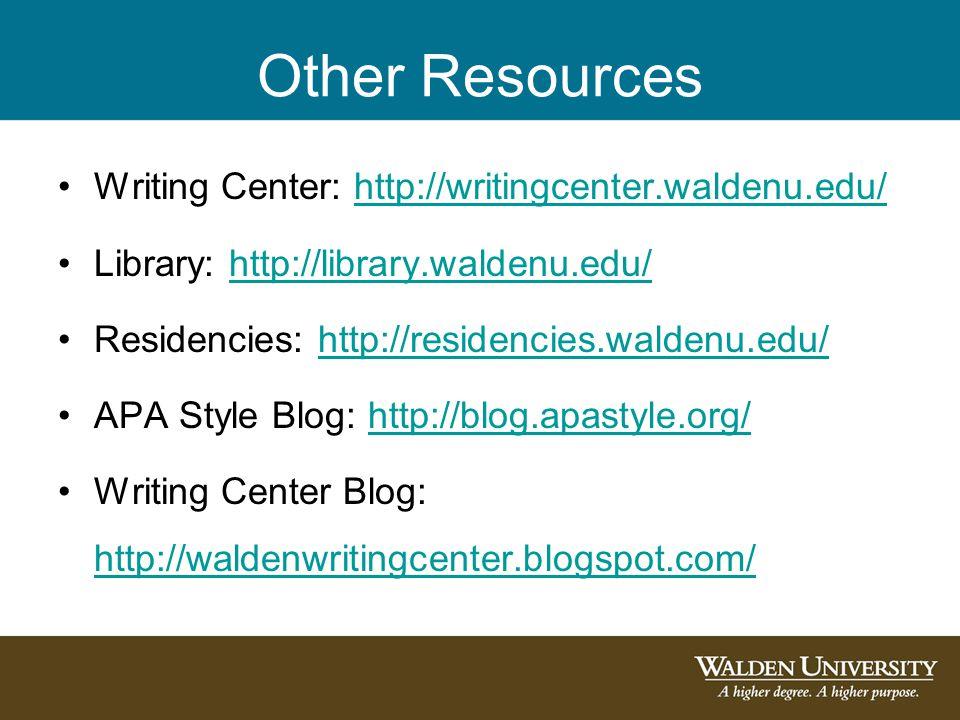 Walden university library dissertations
