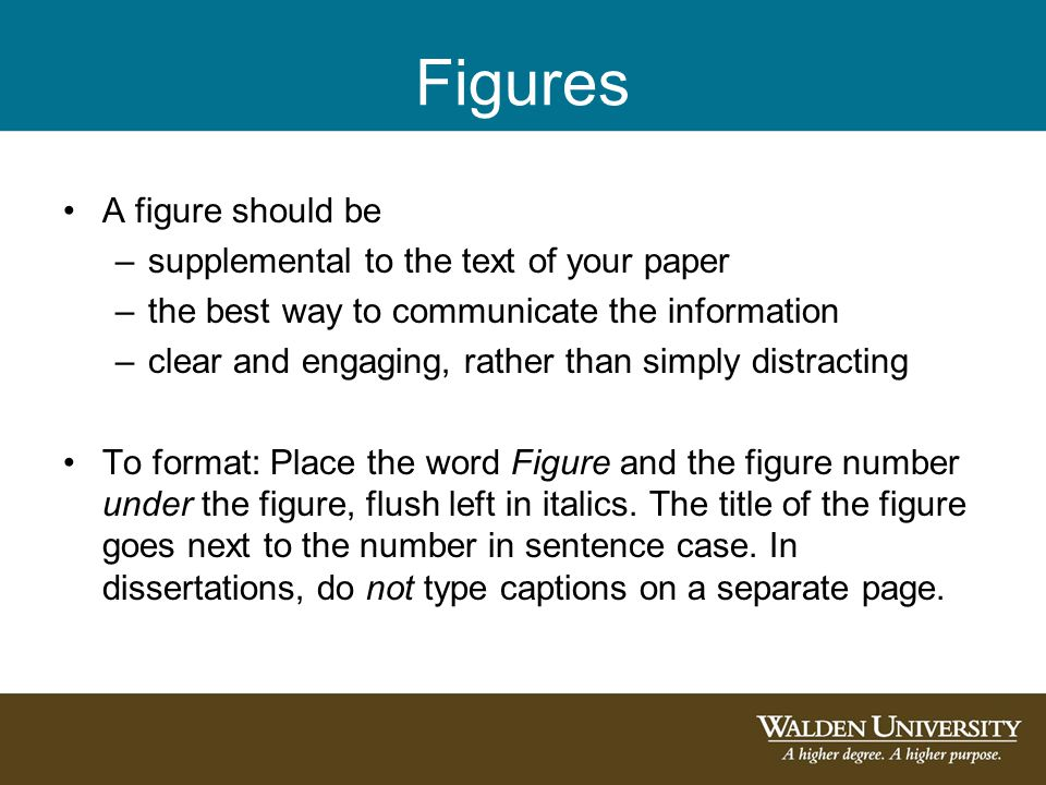 Figures A figure should be –supplemental to the text of your paper –the best way to communicate the information –clear and engaging, rather than simpl