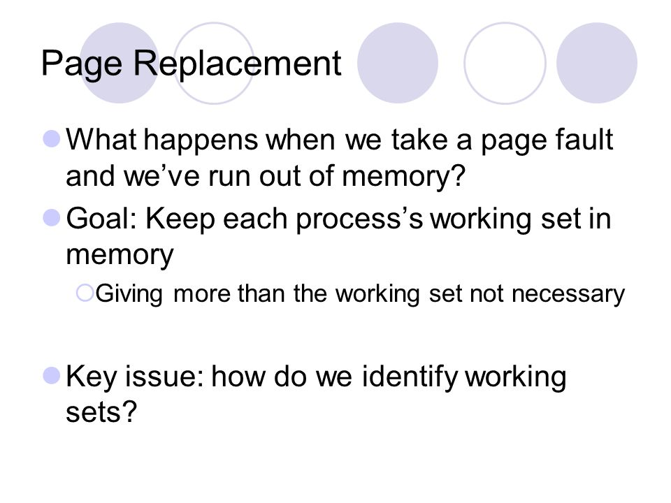 Optimizing for Sparse Address Spaces Observation: very little of the address space is in use at a given time This is why virtual memory works Basic idea: only allocate page tables where we need to And, fill in new page tables on demand virtual address space