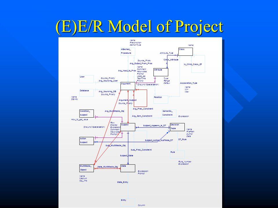 (E)E/R Model of Project