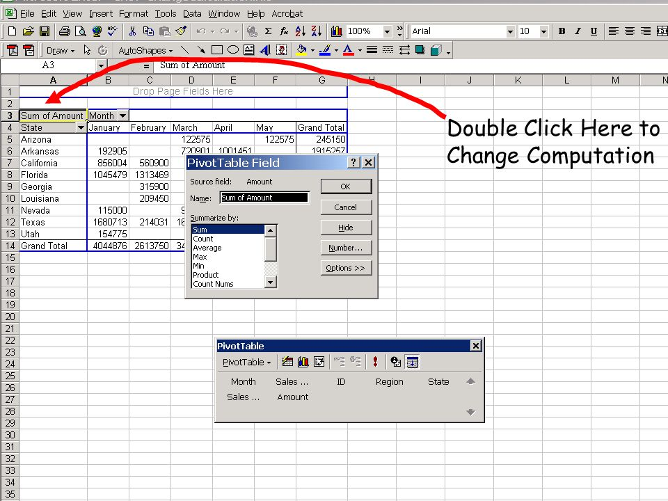 Double Click Here to Change Computation