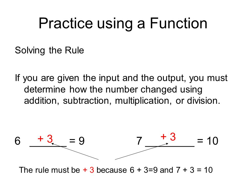 Function Tables InOut 1730 114 10 21 35 19 23 34 22 6 The rule is + 13