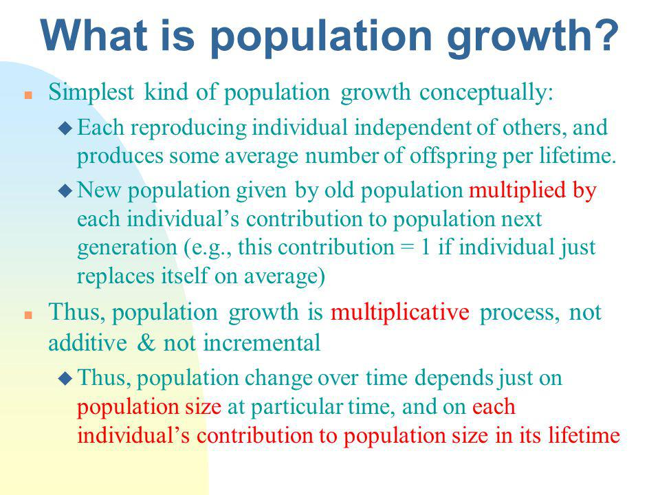 What is population growth.