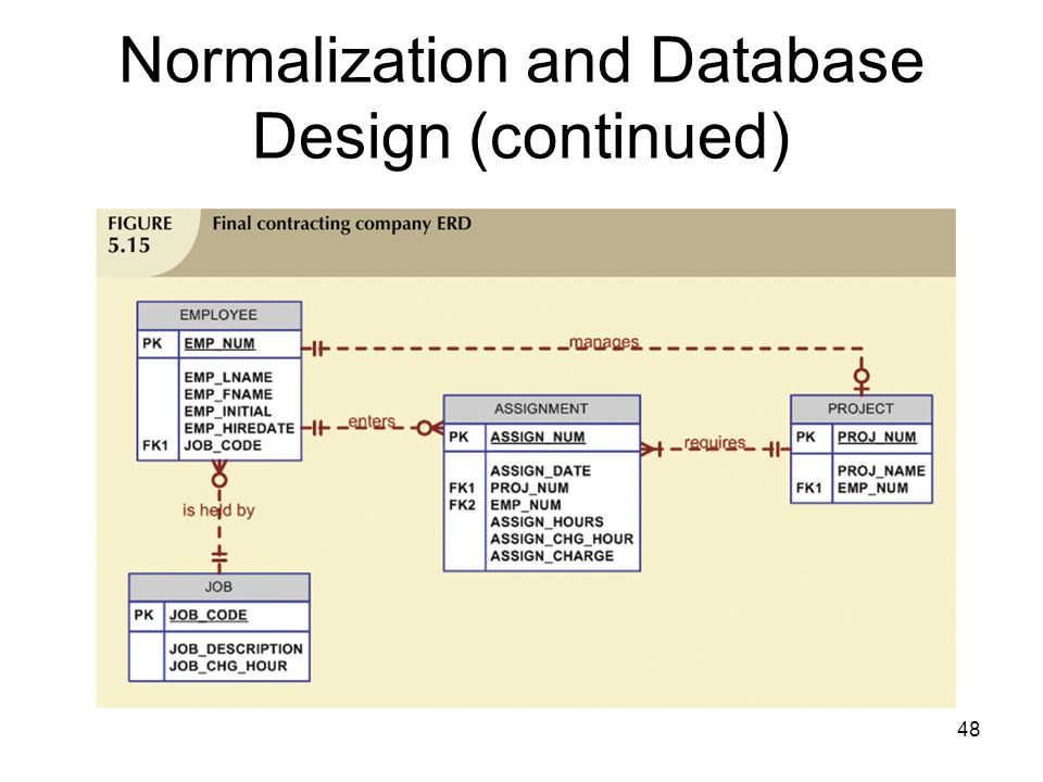 48 Normalization and Database Design (continued)