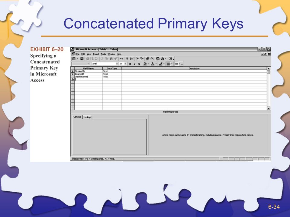 6-34 Concatenated Primary Keys