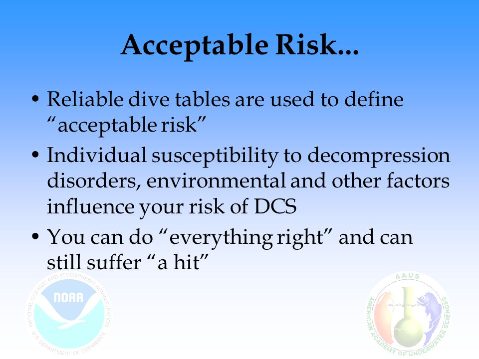 Acceptable Risk...