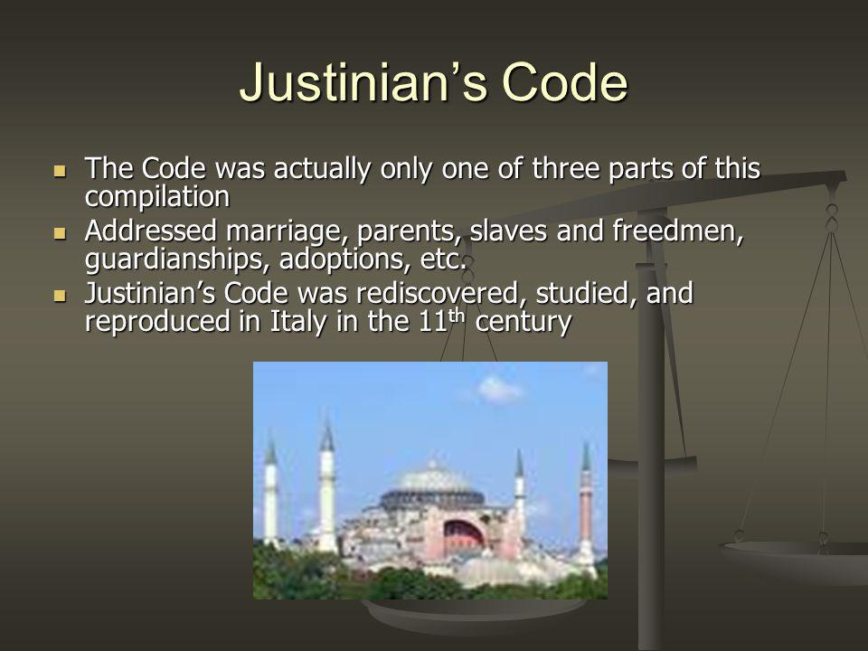 Why is Justinians Code Significant.