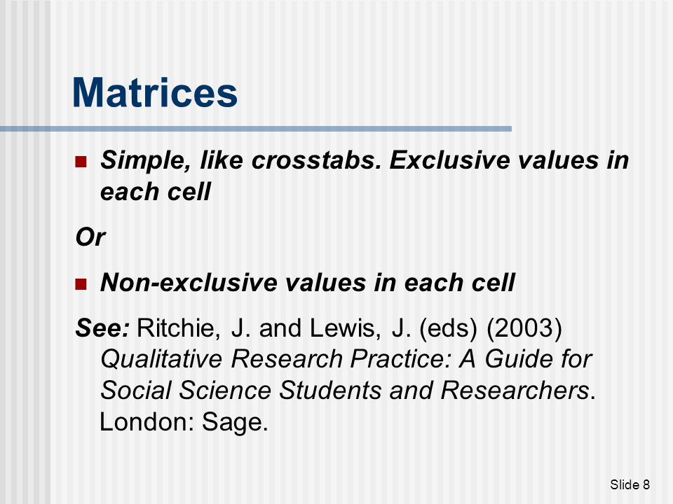Slide 19 Summed indices A way of creating a new variable and ordering cases.
