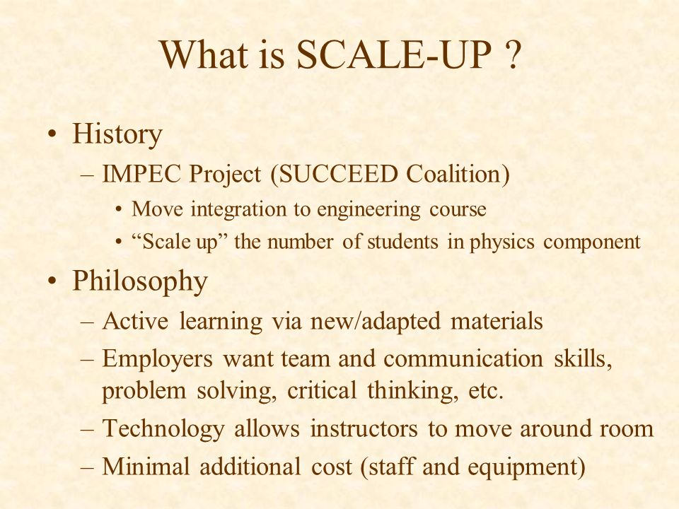 What is SCALE-UP .
