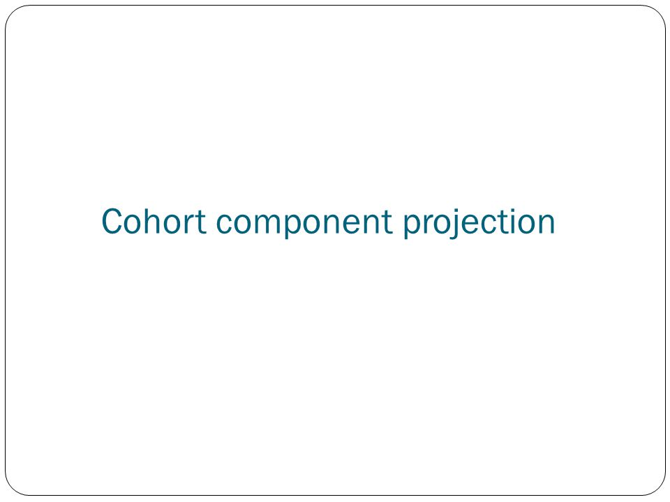 Cohort component projection