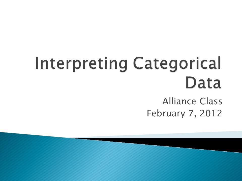 Alliance Class February 7, 2012