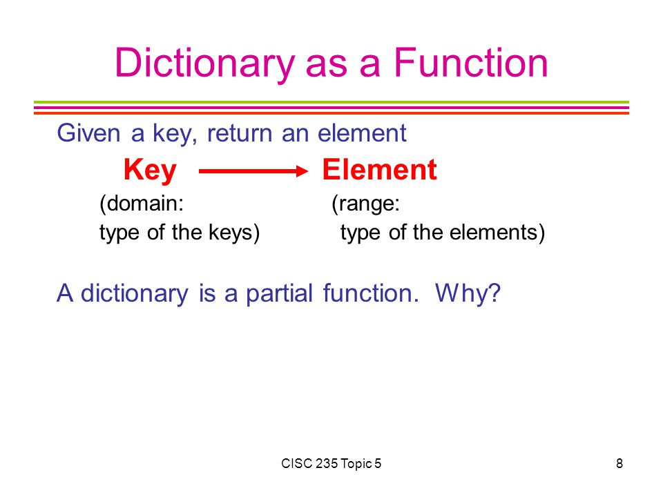 CISC 235 Topic 539 Choosing Hash Functions A good hash function must be O(1) and must distribute keys evenly.