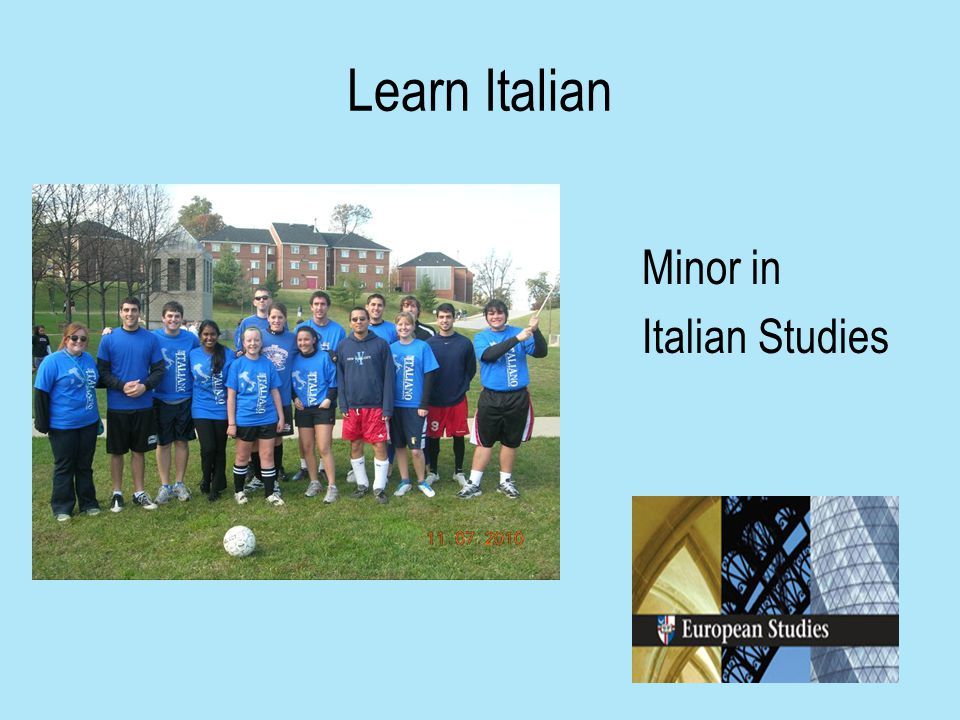 Learn Italian Minor in Italian Studies