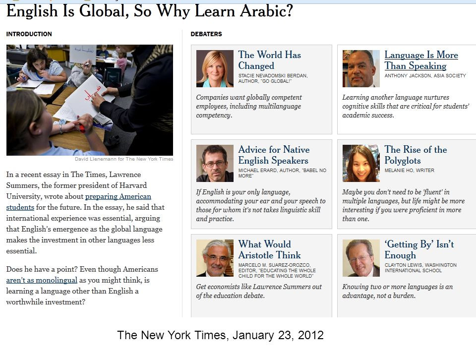 The New York Times, January 23, 2012