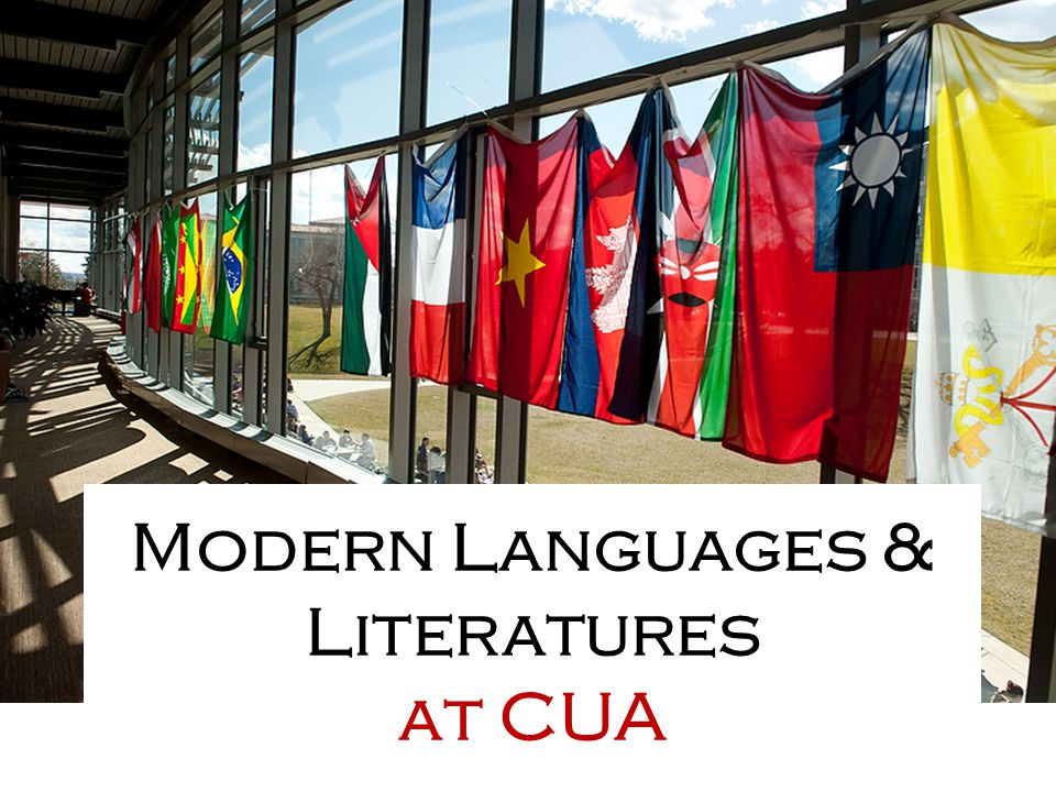 Modern Languages & Literatures at CUA