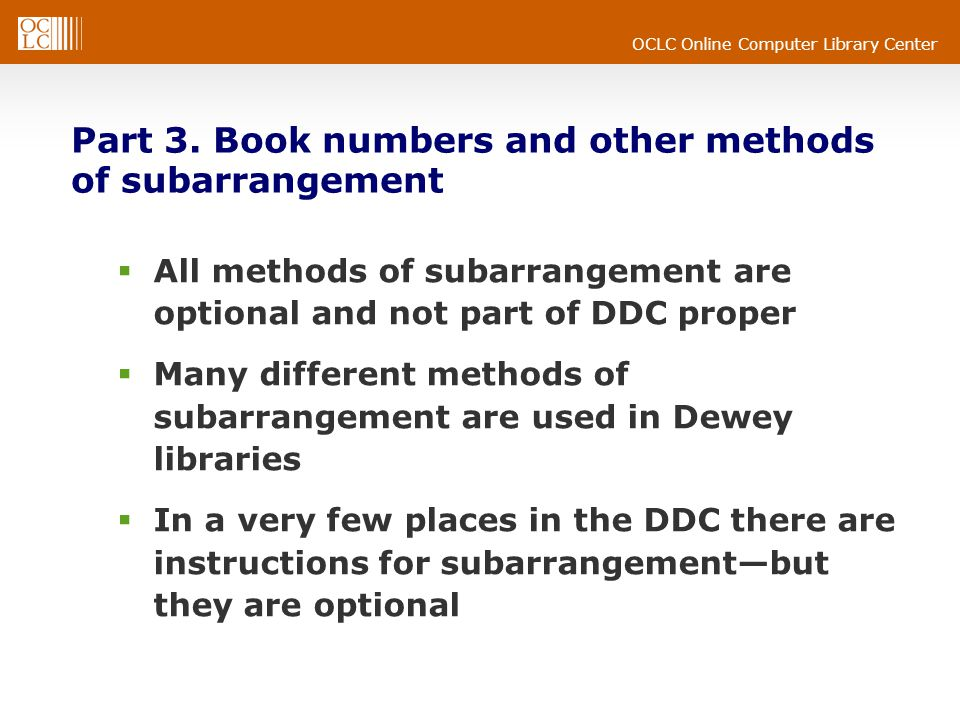 OCLC Online Computer Library Center Part 3.