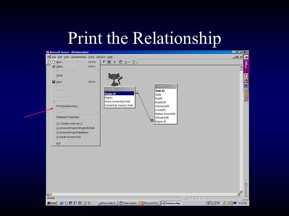 Print the Relationship