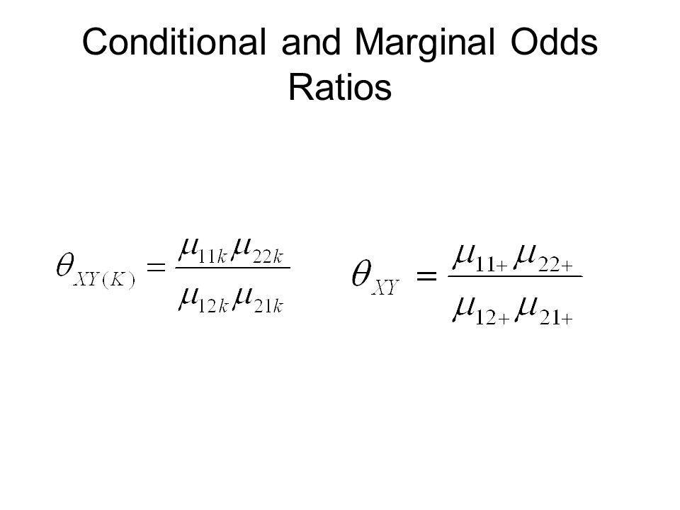 Conditional and Marginal Odds Ratios