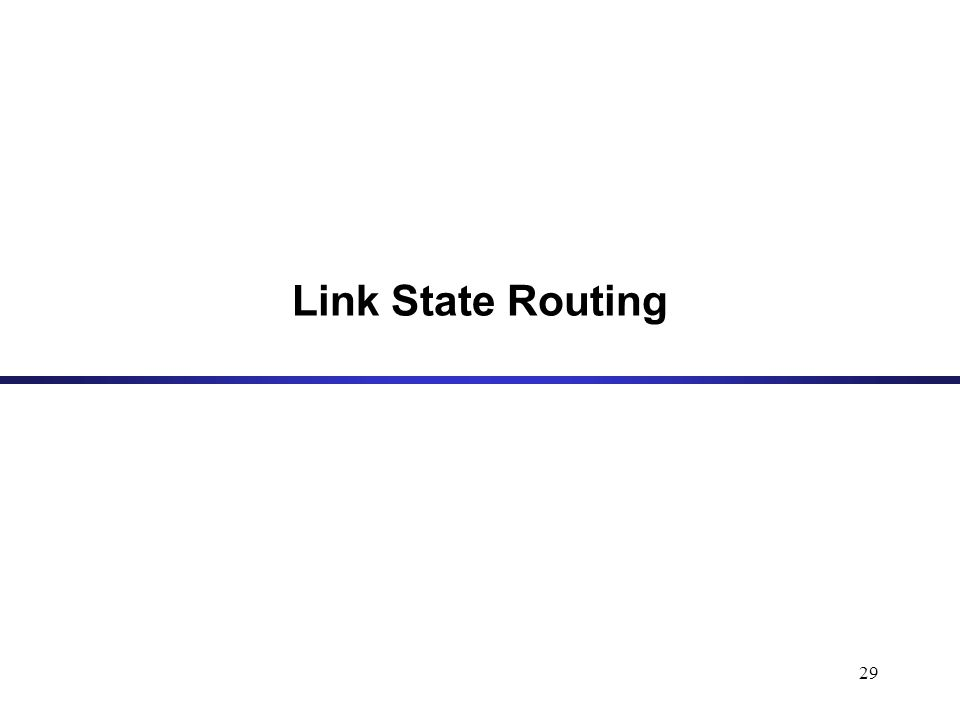 29 Link State Routing