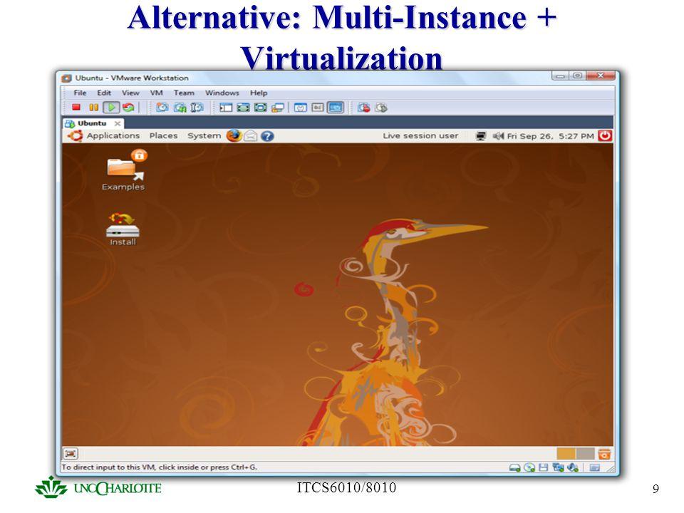 ITCS6010/8010 9 Alternative: Multi-Instance + Virtualization