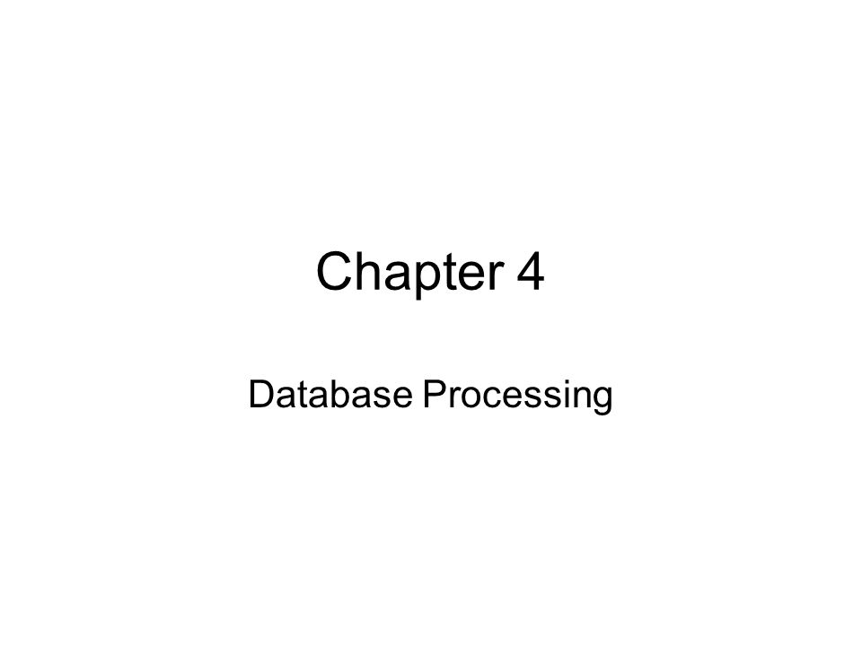 Use of Multiple Database Applications