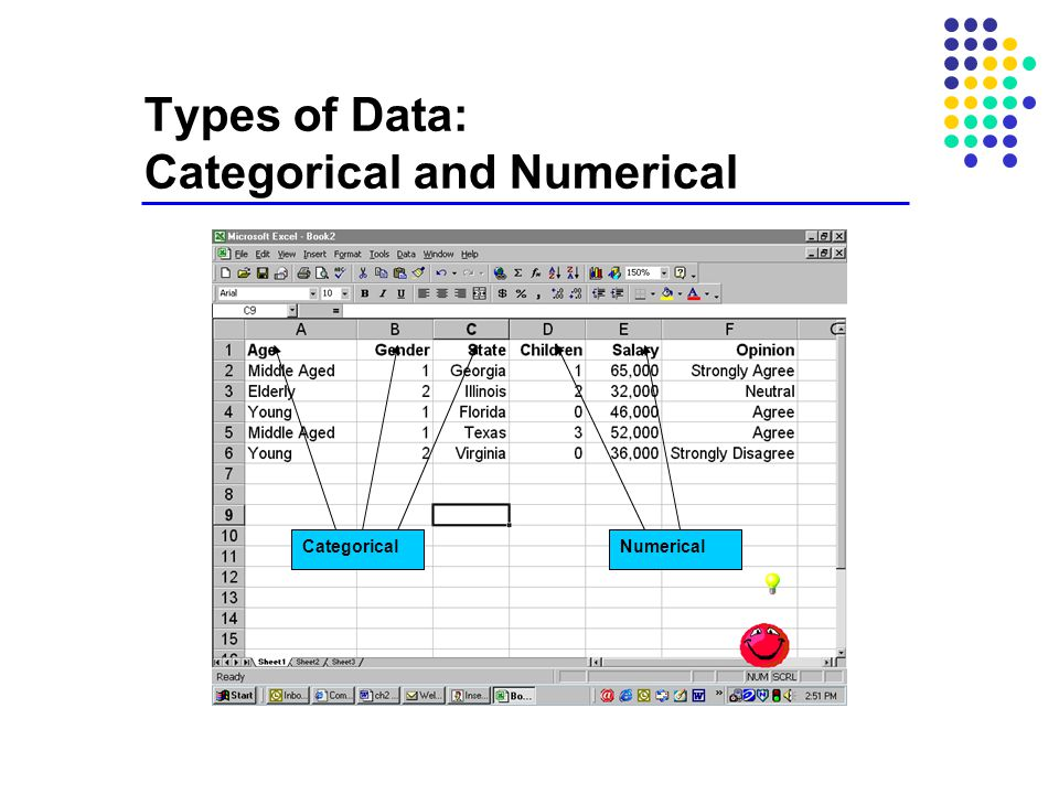 Types of Data: Categorical and Numerical CategoricalNumerical