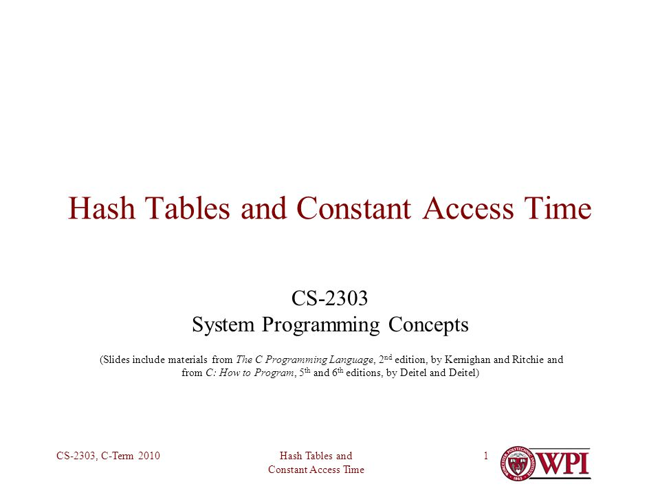 Hash Tables and Constant Access Time CS-2303, C-Term 20102 New Challenge What if we require a data structure that has to be accessed by value in constant time.