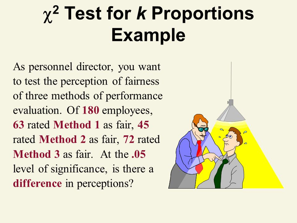 As personnel director, you want to test the perception of fairness of three methods of performance evaluation.