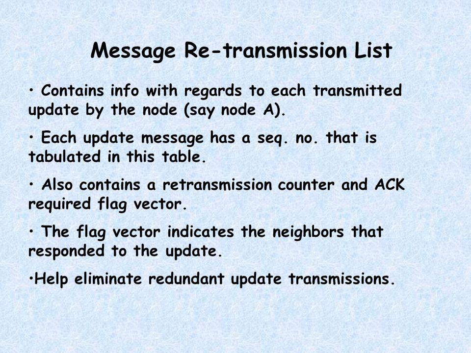 ADVANTAGES: Each node can do a local loop free computation.