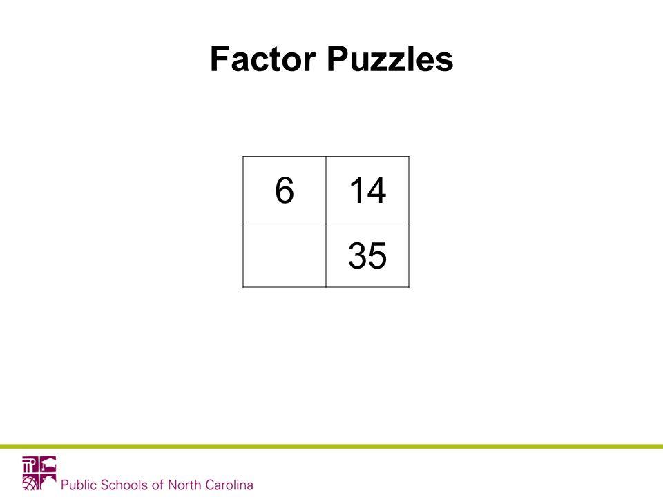 614 35 Factor Puzzles