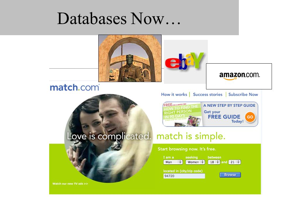 Databases Now…