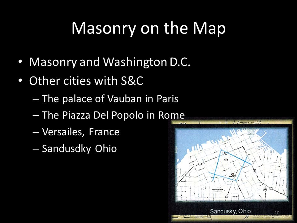 Masonry on the Map Masonry and Washington D.C.