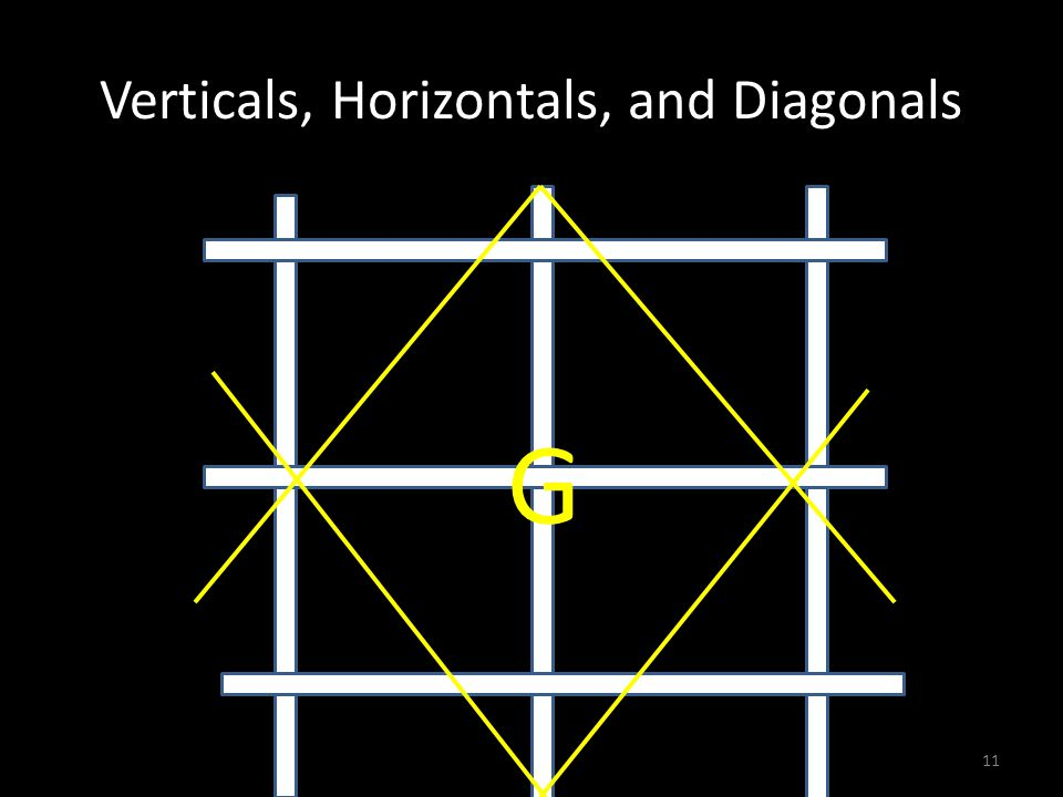 Verticals, Horizontals, and Diagonals G 11