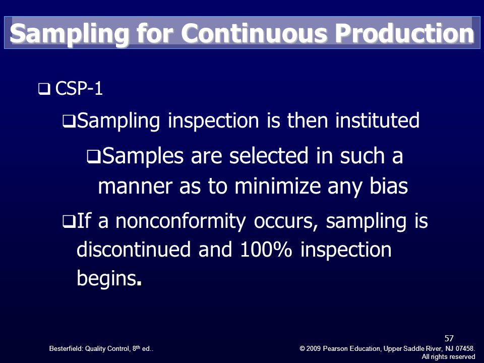 Besterfield: Quality Control, 8 th ed..© 2009 Pearson Education, Upper Saddle River, NJ 07458.