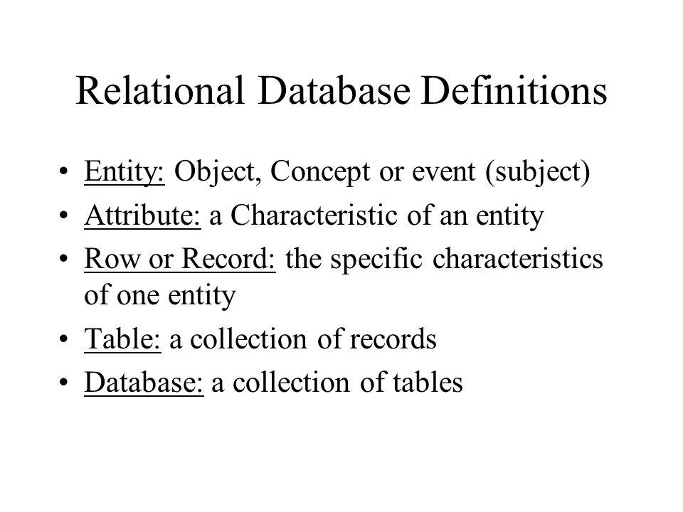 The Relational Database model Developed by E.F.Codd, C.J.