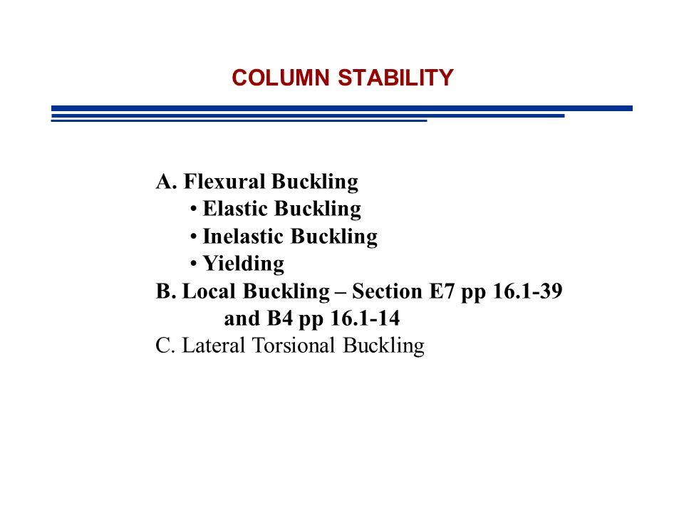 AISC Requirements CHAPTER E pp 16.1-32 Nominal Compressive Strength AISC Eqtn E3-1