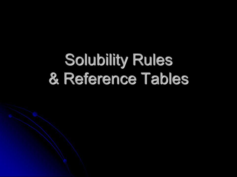 InsolubleCaSO 4 InsolubleCaSO 4 SolubleMgSO 4 SolubleMgSO 4 InsolublePbCrO 4 InsolublePbCrO 4 SolubleLi 2 S SolubleLi 2 S SolubleNH 4 OH SolubleNH 4 OH