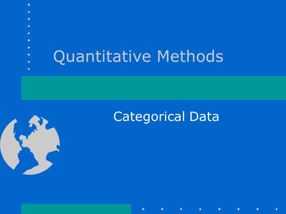 Quantitative Methods Categorical Data