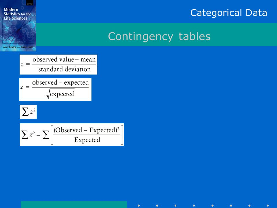 Categorical Data Contingency tables