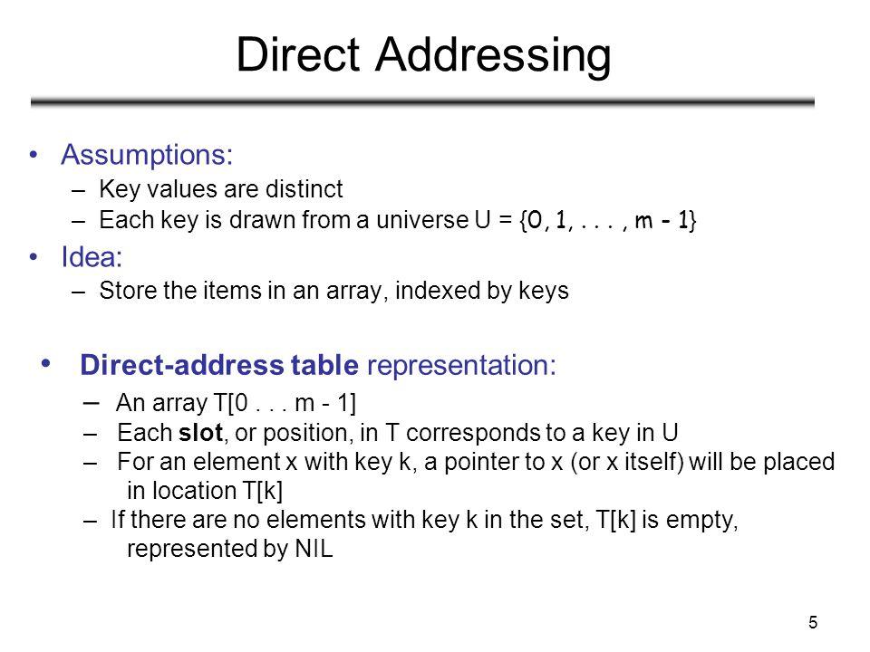 6 Direct Addressing (contd)